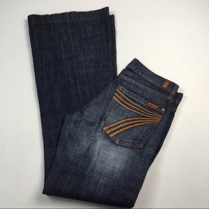 7 For All Mankind DOJO Flare Dark Jean Size 27